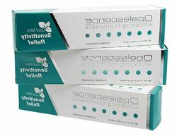 3 tubes of whitening sensitivity relief toothpaste