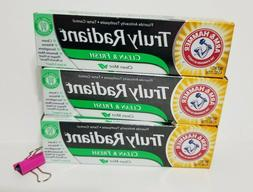 4 PACK Arm & Hammer Truly Radiant Toothpaste, Clean & Fresh,