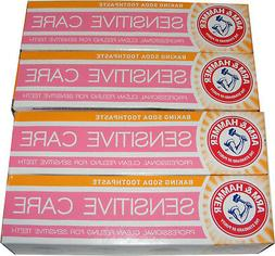 4 x ARM AND HAMMER TOOTHPASTE GENTLE WHITENING & BAKING SODA