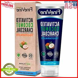 FineVine Activated Coconut Charcoal Teeth Whitening Toothpas