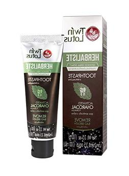 TWIN LOTUS Active Charcoal Toothpaste Herbaliste- Activated