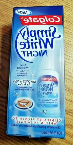 Brand New Colgate Simply White Night  Clear Teeth Whitening