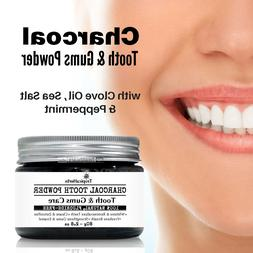 Charcoal Clove Salt Tooth Gums Powder Whiten Remineralize Te