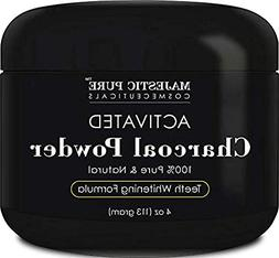 Activated Charcoal Teeth Whitening Powder by Majestic Pure -