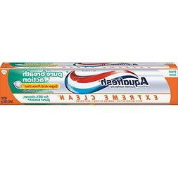 Aquafresh Extreme Clean Pure Breath Action, Fresh Mint, 5.6
