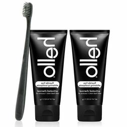 Hello 2PK Activated Charcoal Teeth Whitening Fluoride Free T
