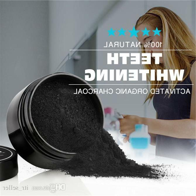 ACTIVATED CHARCOAL COCONUT TEETH WHITENING POWDER NATURAL + TOOTHBRUSH