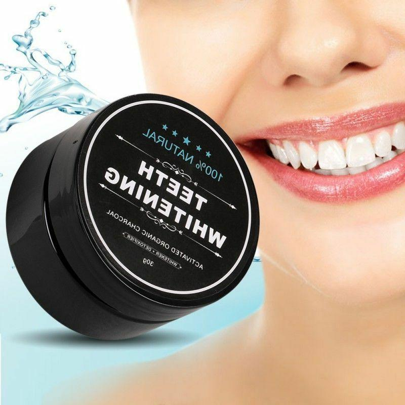 ACTIVATED COCONUT TEETH WHITENING + TOOTHBRUSH