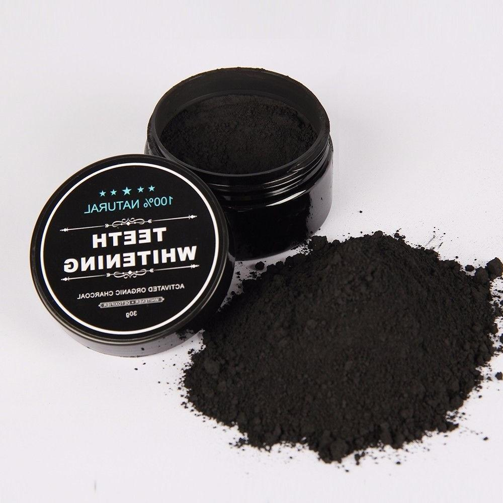 ACTIVATED CHARCOAL TEETH WHITENING NATURAL + TOOTHBRUSH