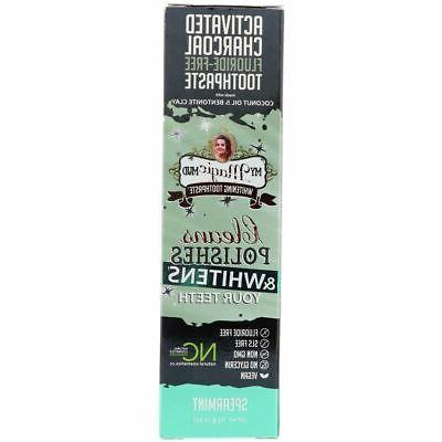 Activated Charcoal Toothpaste, My Magic Mud, 4 oz Spearmint
