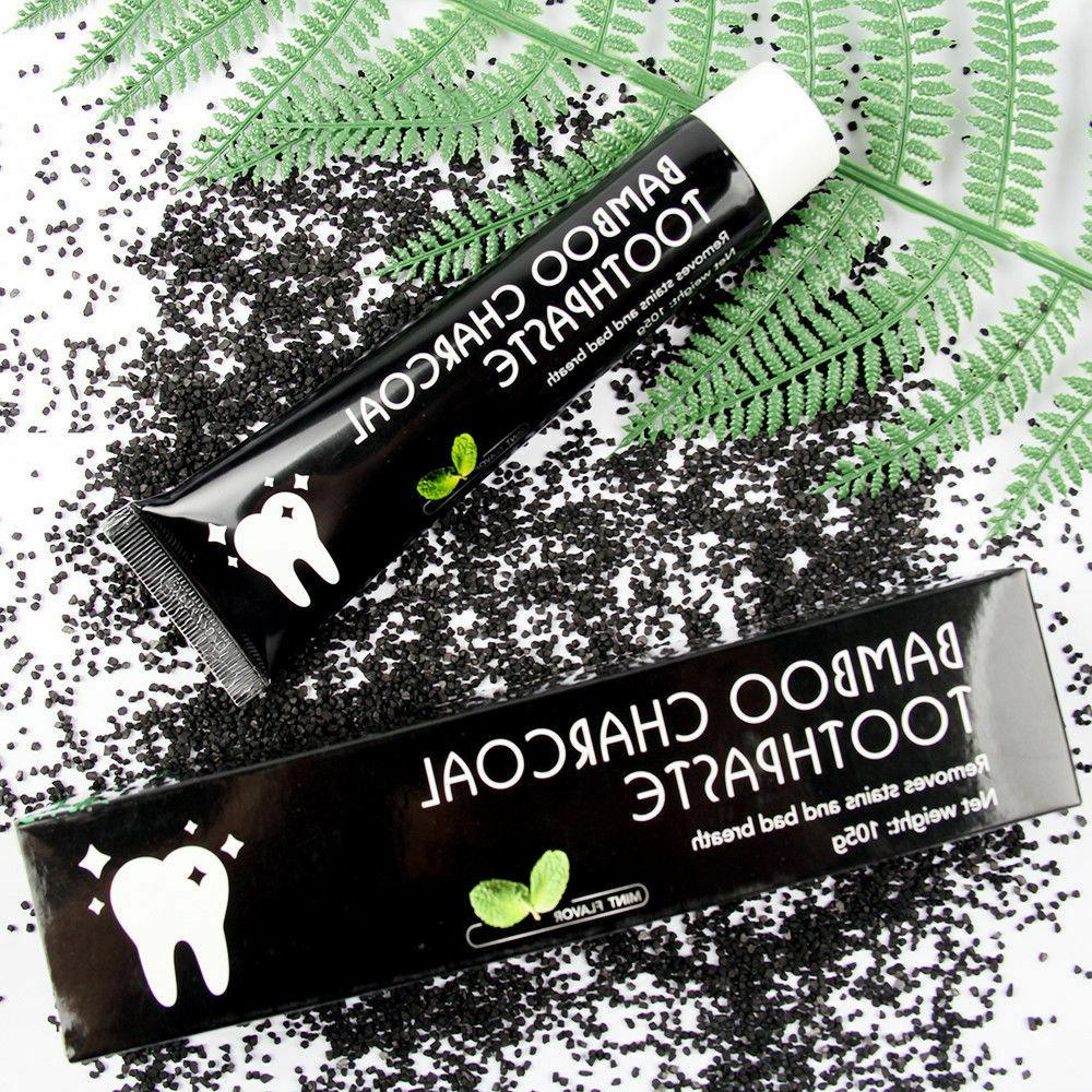 Bamboo Teeth Toothpaste Black Removes Stains Bad