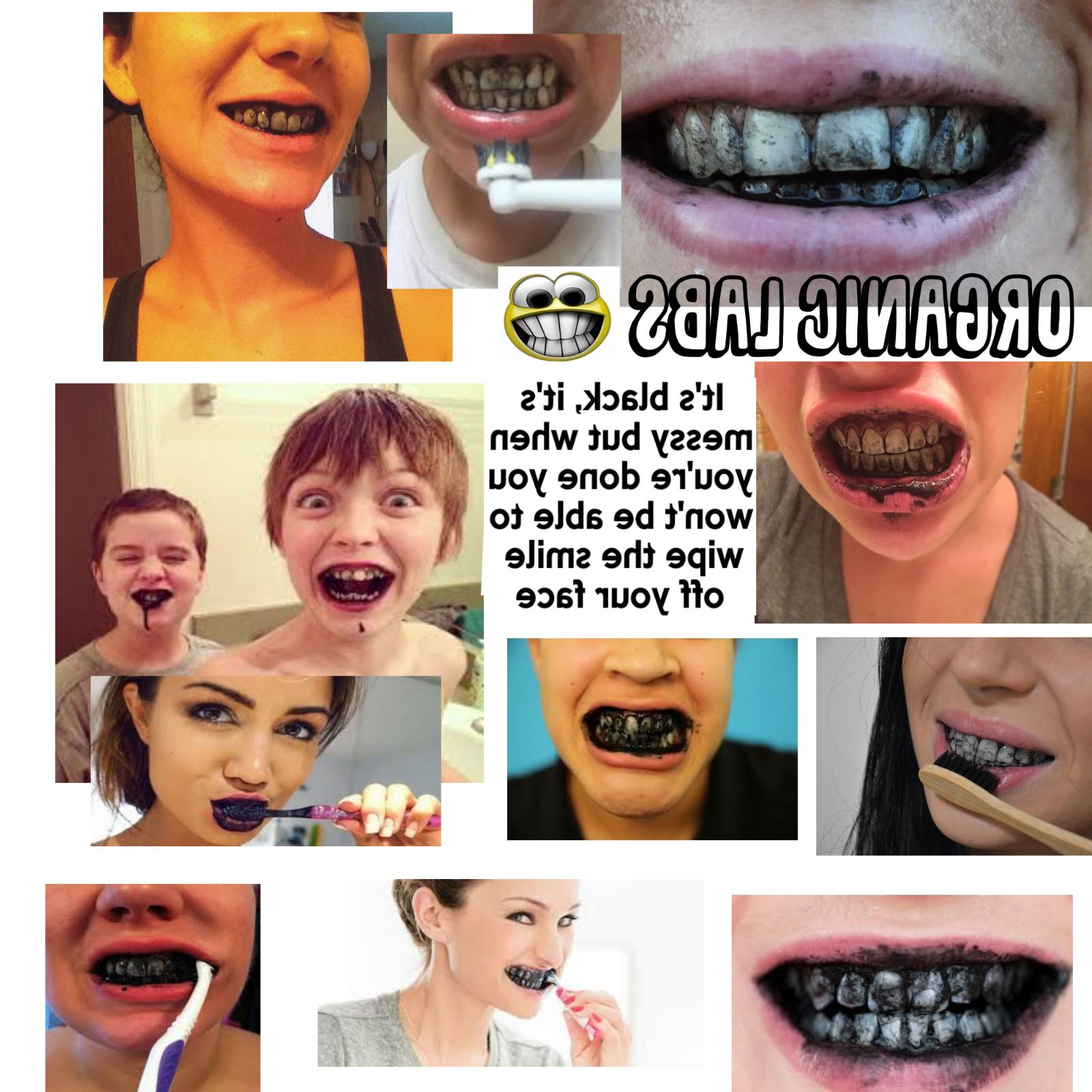Charcoal Teeth Whitening Natural Coconut Powder