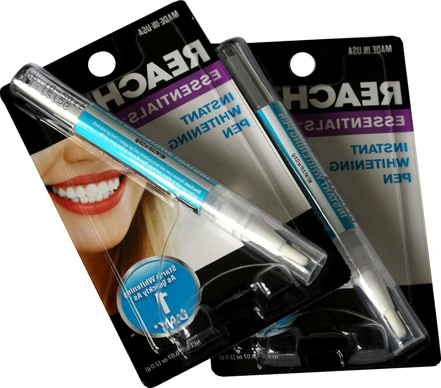 Reach Essentials Teeth Whitening Pen Made in the USA- Pack of