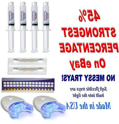 45% HOME Teeth Tooth Whitening Whitener KIT Dental Gel Bleac