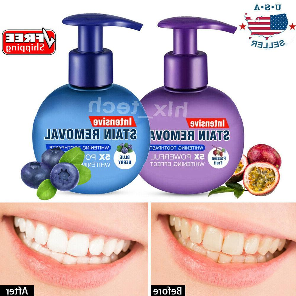 intensive stain removal teeth whitening toothpaste fight