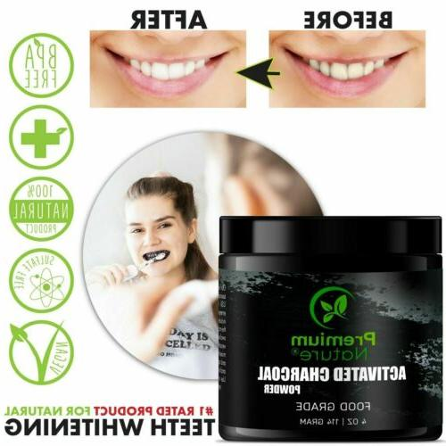 Activated Charcoal Teeth Whitening Powder All Black Charcol Whitening Toothpaste & Sensitive Smile Tooth Whitener oz