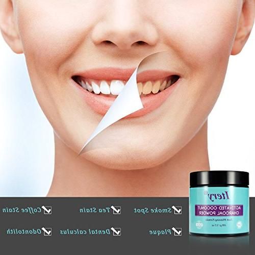 Teeth Whitening Powder ITERY Coconut Charcoal Teeth for Whitening Dental Care Smile