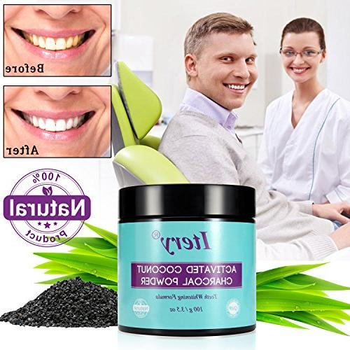 Powder ITERY Activated Coconut for Denture Whitening Dental