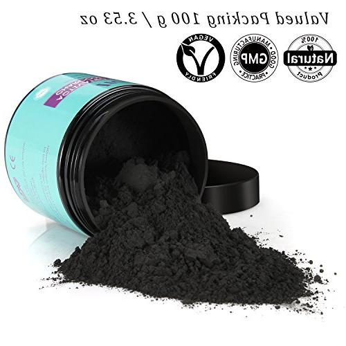 Teeth Powder ITERY Natural Coconut Charcoal Teeth Whitening for Denture Bright Teeth Whitening Care Smile Teeth
