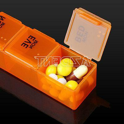 Weekly Rainbow Tablet Pill Box Organizer Case Container