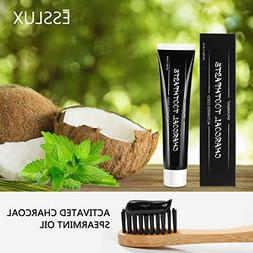organic activated charcoal teeth whitening toothpaste fluori