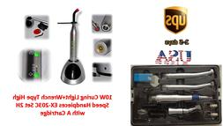 Silver 10W Curing Light+High Speed Handpieces EX-203C Wrench