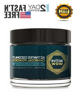 Active Wow Teeth Whitening Charcoal Powder Natural Tooth Pas