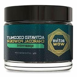Active Wow Teeth Whitening Charcoal Powder, Spearmint 20g NE