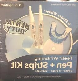 Dental Duty Teeth Whitening Kit - 2 Whitening Pens +14 Strip