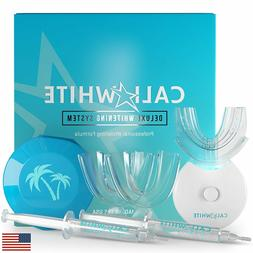 Cali White Vegan Teeth WHITENING KIT with LED Light, Made in